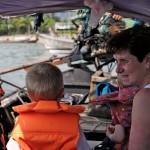 Longtail till resorten från Krabi