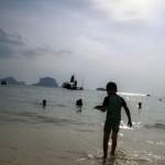 Oskar på Pranang Beach