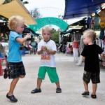 Oskar, Alvin och Max i Saladan